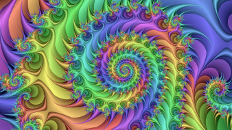 3д графика, фракталы , fractal, фрактал, спираль, абстракция