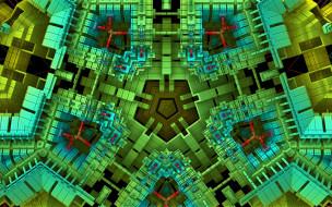 3д графика, фракталы , fractal, фрактал