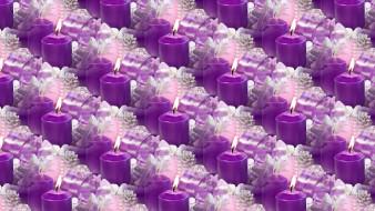 Новый год, фон, текстура, свечи, праздник