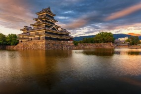 matsumoto castle, города, замки Японии, панорама