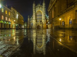 bath abbey, города, - католические соборы,  костелы,  аббатства, простор