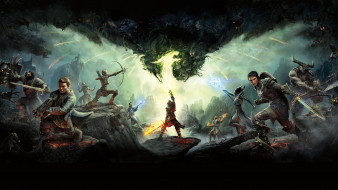 обои для рабочего стола 5900x3319 видео игры, dragon age iii,  inquisition, dragon, age, inquisition