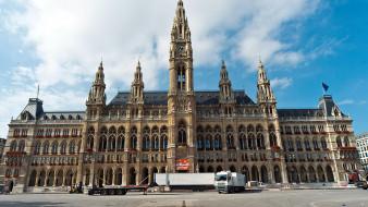 города, вена , австрия, ратуша
