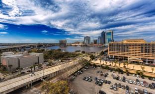 jacksonville,  florida, города, джексонвилл , сша, небоскребы, панорама