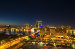 jacksonville,  florida, города, джексонвилл , сша, панорама, небоскребы