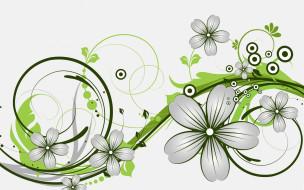 векторная графика, цветы , flowers, узор, фон, цвета, цветы