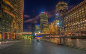 canary wharf london, города, лондон , великобритания, простор