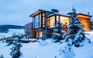 города, - здания,  дома, снег, зима