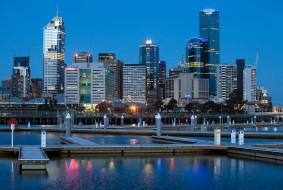 города, мельбурн , австралия, небоскребы