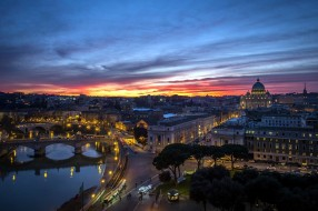 города, рим,  ватикан , италия, панорама