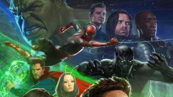 avengers,  infinity war, рисованное, кино, персонажи