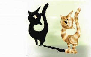 рисованное, животные,  коты, котэ, кот, лапа, когти, взгляд