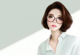 арт, портрет, Ayya SAP, Asian girl study, девушка