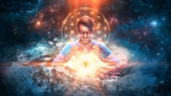 фэнтези, магия, дух, медитация, солнце, космос