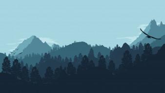 векторная графика, природа , nature, горы, облака