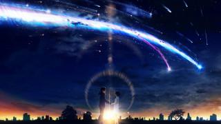 аниме, kimi no na wa, любовь