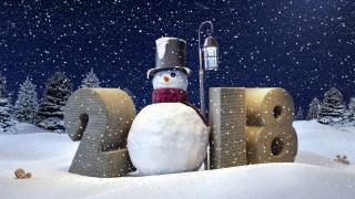 снеговик, дата, цифры