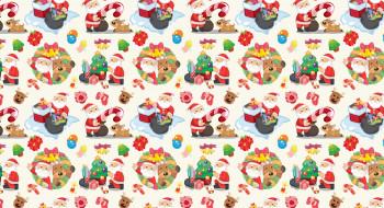 праздничные, векторная графика , новый год, арт, праздник, подарки, ёлочка, новый, год, текстура, конфеты, санта, клаус