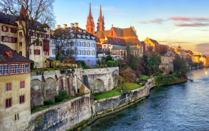 базель, швейцария, города, - улицы,  площади,  набережные