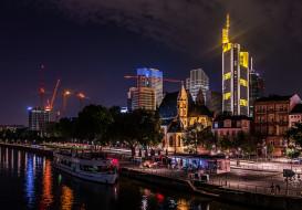 frankfurt am main, города, франкфурт-на-майне , германия, небоскребы, панорама