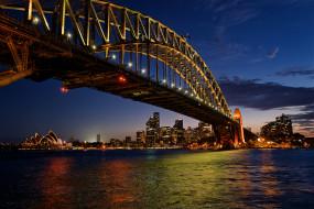 sydney harbour bridge, города, сидней , австралия, простор