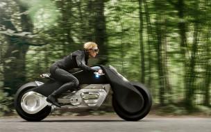 Next, 100, 2016, Motorrad, Vision, девушка, BMW