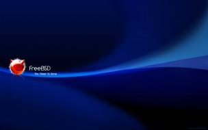 фон, логотип, FreeBSD