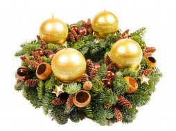 праздничные, новогодние свечи, елка, свечи