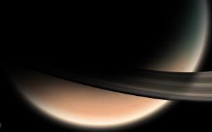космос, сатурн, планета, кольца, спутник, солнечная, система