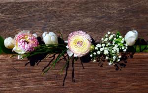тюльпаны, композиция, ранункулюс