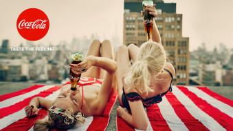 напиток, крыша, девушки, слоган