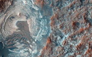 mars, космос, марс, вид, ландшафт, пространство, планета, поверхность, пейзаж, грунт