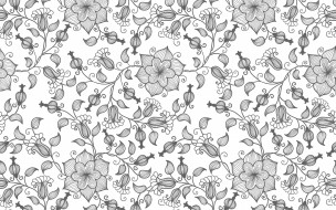 текстура, цветы, вектор, узор