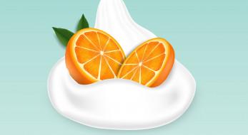 фон, апельсин, молоко, цитрус