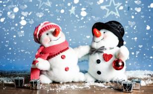 забавные, снеговики