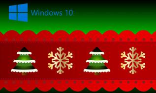 компьютеры, windows  10, логотип, фон