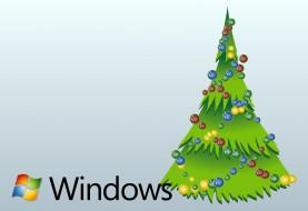 елка, украшения, праздник, новый год, фон