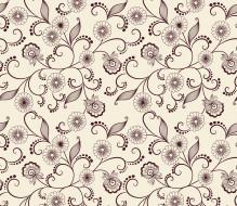 фон, узор, текстура, цветы, листики, вектор