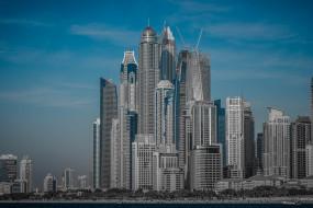 панорама, небоскребы