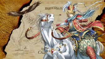 аниме, shoukoku no altair, лошадь, принц