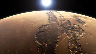 mars, космос, марс, пейзаж, вид, грунт, ландшафт, пространство, планета, поверхность