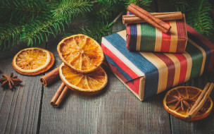 корица, decoration, orange, апельсин, елка, gift, happy, holiday celebration, украшения, vintage