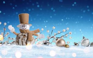 снеговик, snow, снег, зима