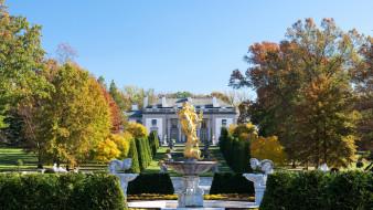 особняк, парк, фонтан