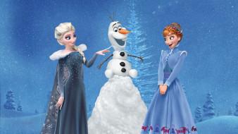 мультфильмы, olaf`s frozen adventure, olafs, frozen, adventure, anna, elsa