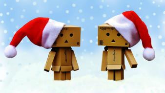 Zima, Czapki, Dande, kartonowe ludziki