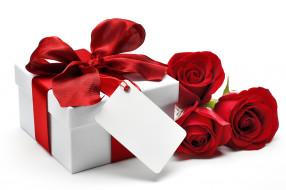 цветы, лента, подарок