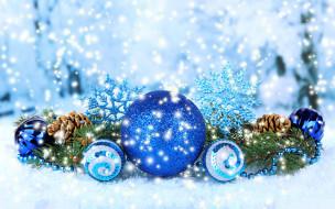 праздничные, украшения, снежинки, декор, новогодний