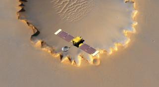mars, космос, космические корабли,  космические станции, пейзаж, спутник, грунт, станция, victoria, ландшафт, пространство, планета, кратер, вид, поверхность