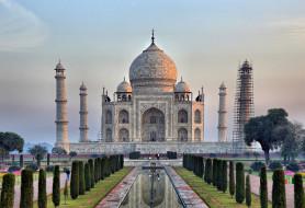 taj mahal - india, города, тадж-махал , индия, простор